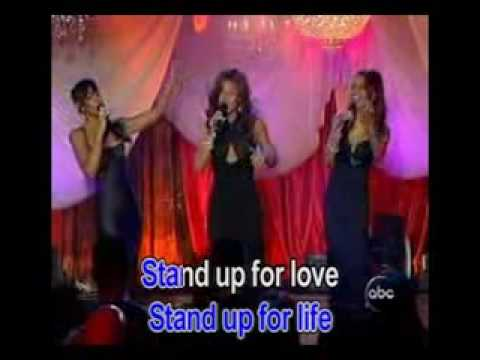 stand up for love karaoke destiny' child