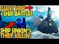 GIANT SHIP + SHIP BATTLES - SHIP SINKIN' + THIEF KILLIN' - Sea of Thieves Beta Multiplayer Gameplay