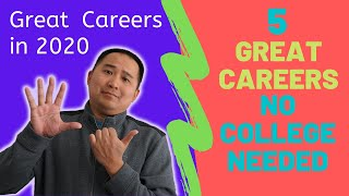 5 High Paying Jobs / Careers - No College Required