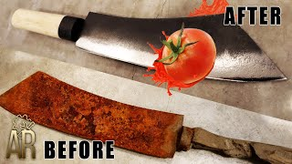 Old machete restoration turns into Japanese kitchen knife
