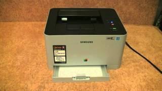 Unboxing цветного лазерного принтера Samsung CLP-365 с тестом печати