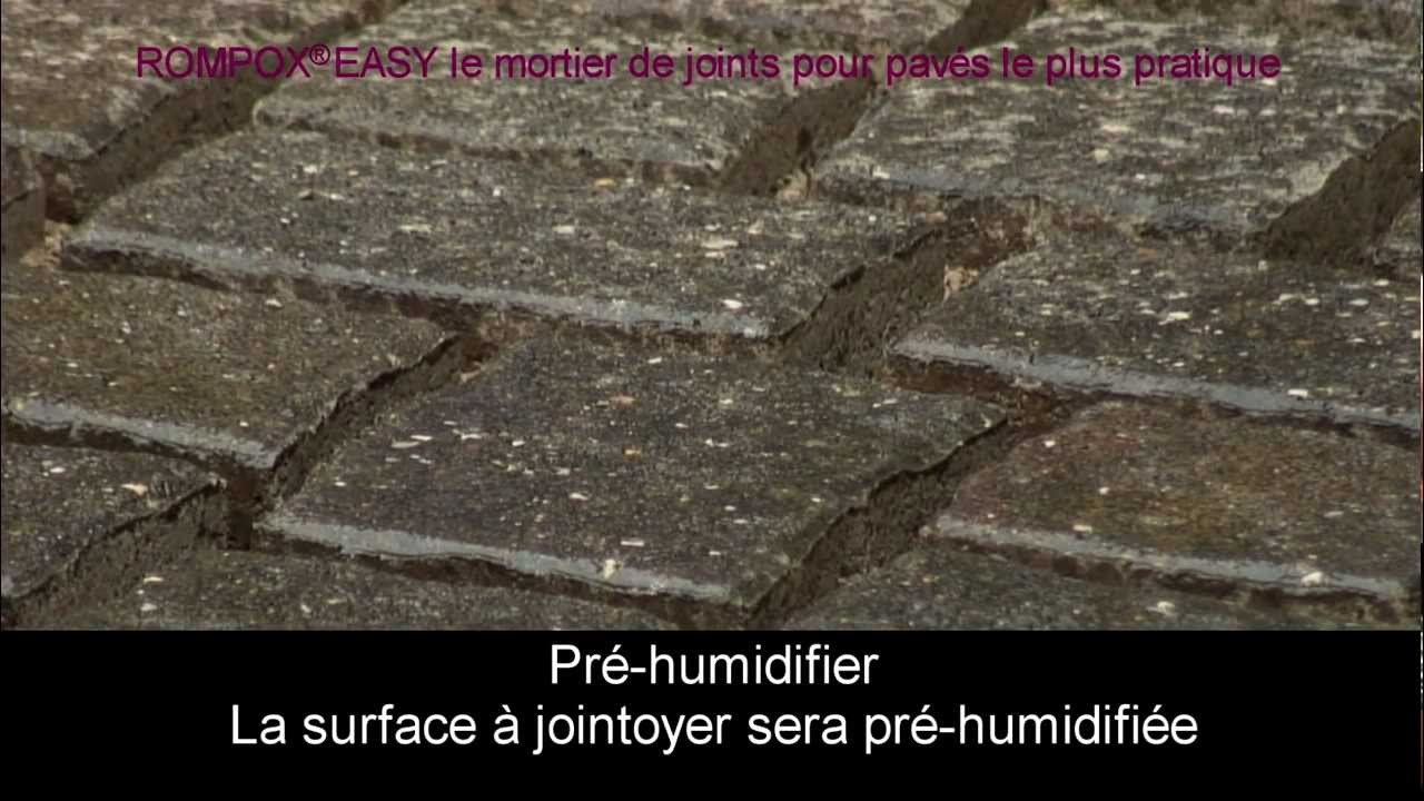 Le mortier de joints pour pav s le plus pratique youtube for Mortier pour brique de verre