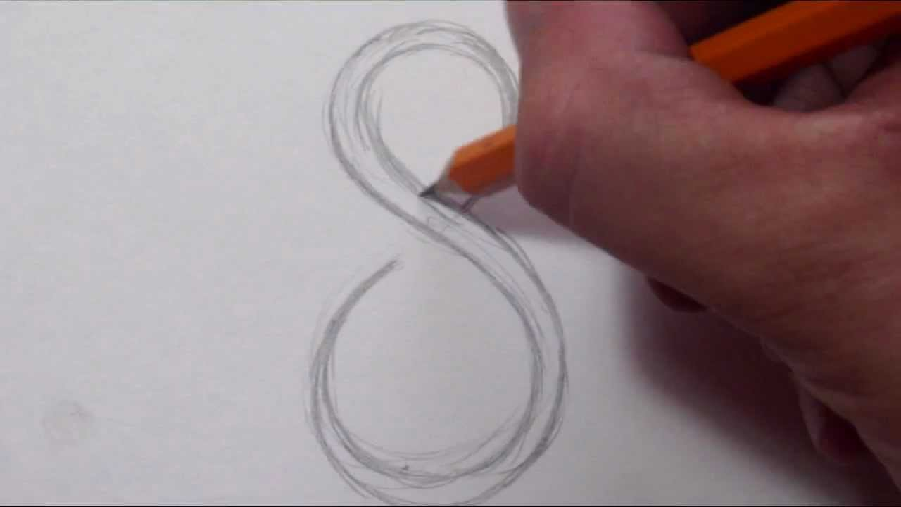 How To Draw A Simple Tribal Number 8 Youtube