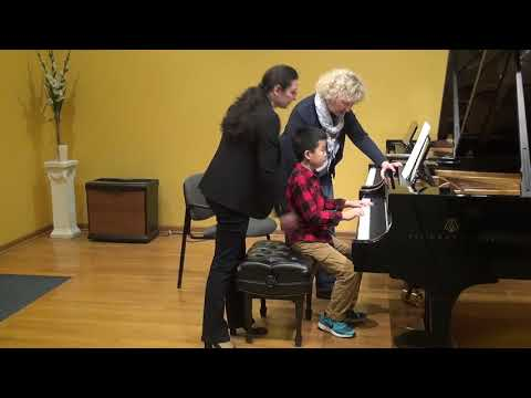24.02.2018 Mira Marchenko's master-classes. Jason Xiao. Schmitt Music, Kansas City, USA.