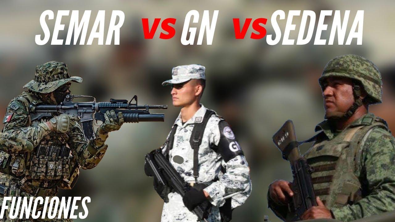 Marina VS Guardia Nacional VS Ejército Mexicano ¿Cuales son sus funciones?