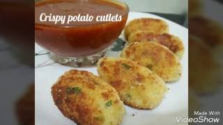 crispy potato cutlets by ( YES I CAN COOK )