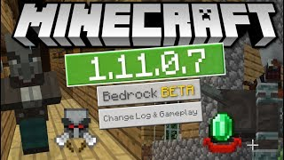 Minecraft - 1.11.0.7 OUT NOW ! BETA - BAD OMEN & VINDICATORS [ Change Log ] MCPE / Xbox / Bedrock