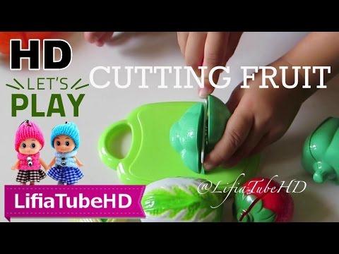 Cutting Fruit Toy ❤ Mainan Anak Buah Mainan Potong Plastik - World Cooking Kitchen Juguete Toy