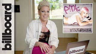 P!nk Reacts To Her First Music Video, That Iconic 2010 Grammys Performan... video thumbnail