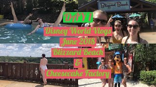DISNEY WORLD VLOGS JUNE 2018| DAY 1 BLIZZARD BEACH & CHEESECAKE FACTORY