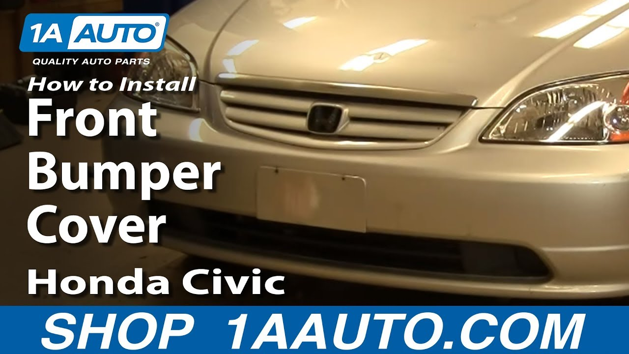 How To Install Replace Remove Front Bumper Cover Honda Civic 0105
