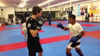 Nick Reiner 1st sparring session