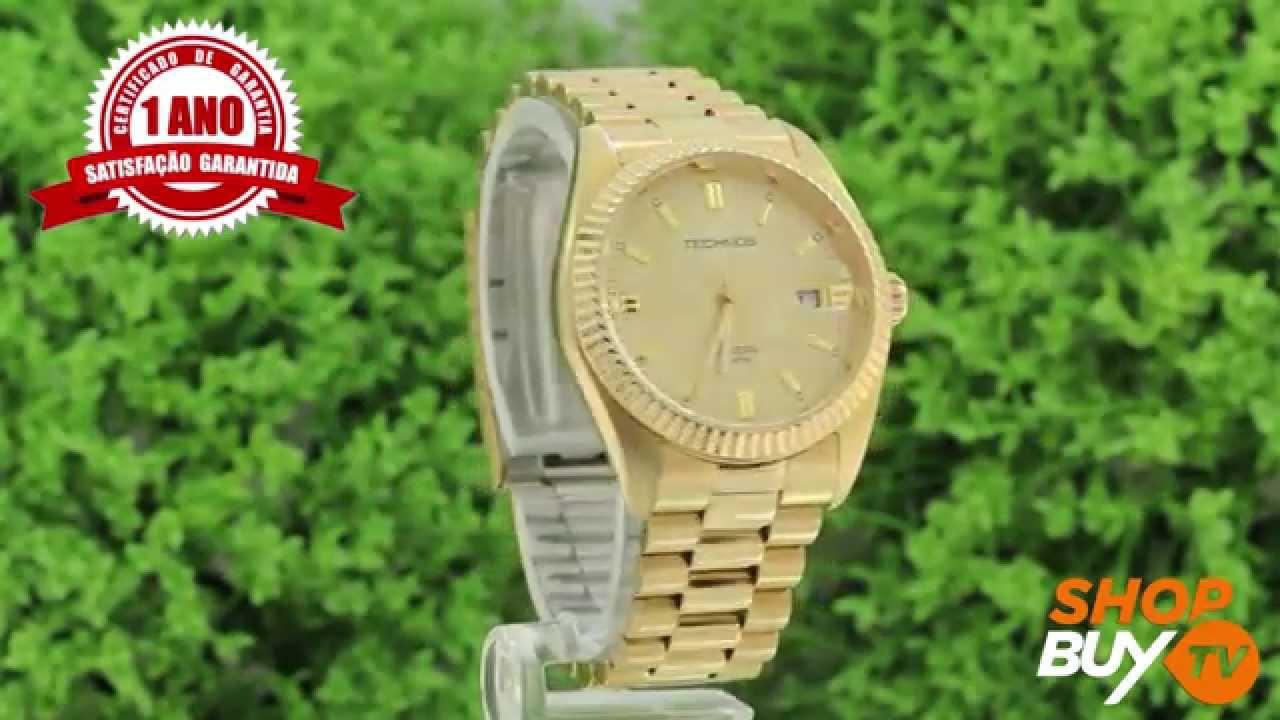 0a9295002a0db Relógio Technos Riviera 2115EF 4X - ShopBuy - YouTube