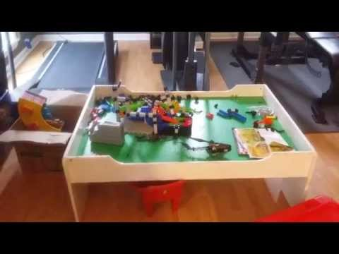 White Melissa And Doug Play Table With Drawer Youtube