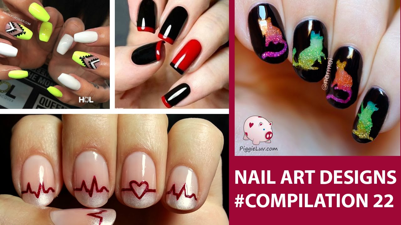daily nail art designs tutorial, compilation #summer 22 - youtube