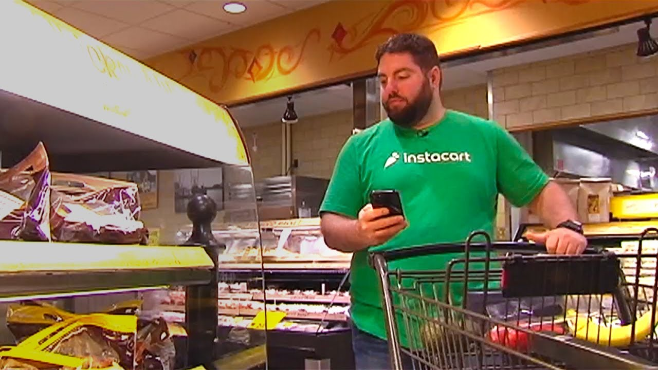 Instacart grocery delivery service is growing - YouTube