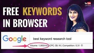 Best Keyword Research Tool: Keywords Everywhere Tutorial