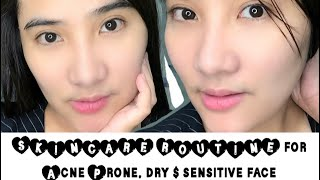 EFFECTIVE SKINCARE ROUTINE FOR ACNE PRONE, VERY SENSITIVE & DRY SKIN | KOREAN GLASS SkinCare ROUTINE