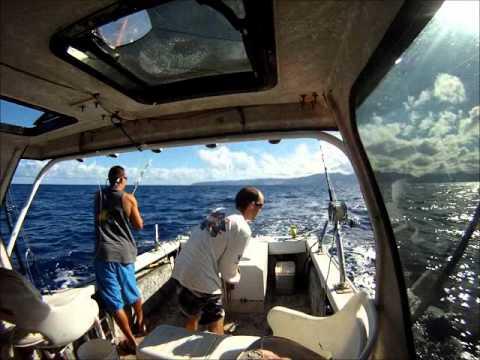 ONO fishing oahu,waianae,hawaii on 4/12/12.wmv