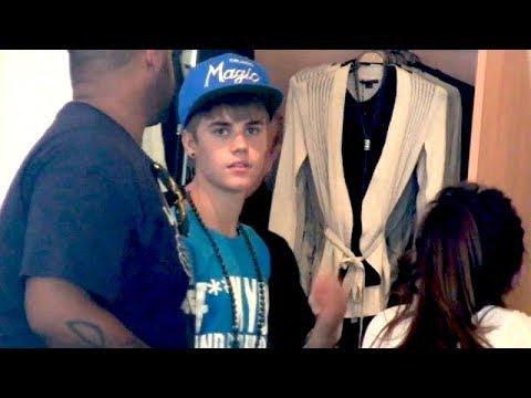 Justin Bieber Shopping In F*** You T-Shirt [2011]