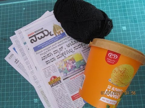 Newspaper Craft Idea | DIY Home Decor | Newspaper & old bangles reuse idea