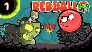 - ЗОМБИ НАПАЛИ НА КРАСНЫЙ ШАРИК НОВАЯ ЧАСТЬ Несносный Шар Plants vs zombies Red Ball 4 Мультик дети