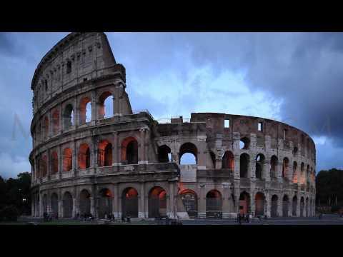 The Colosseum in Rome - Stock Video Clip