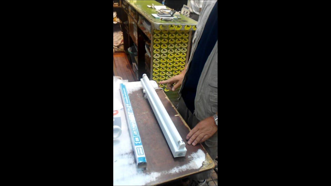 如何用LED光管代替傳統光管 - YouTube