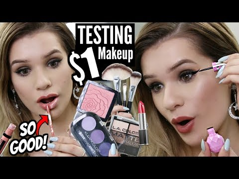 Full Face TESTING $1 MAKEUP! WORTH IT or TOSS IT?!