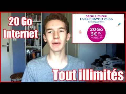 FORFAIT TOUT ILLIMITÉS - 20 Go Internet pour 4€/mois (Bon plan)