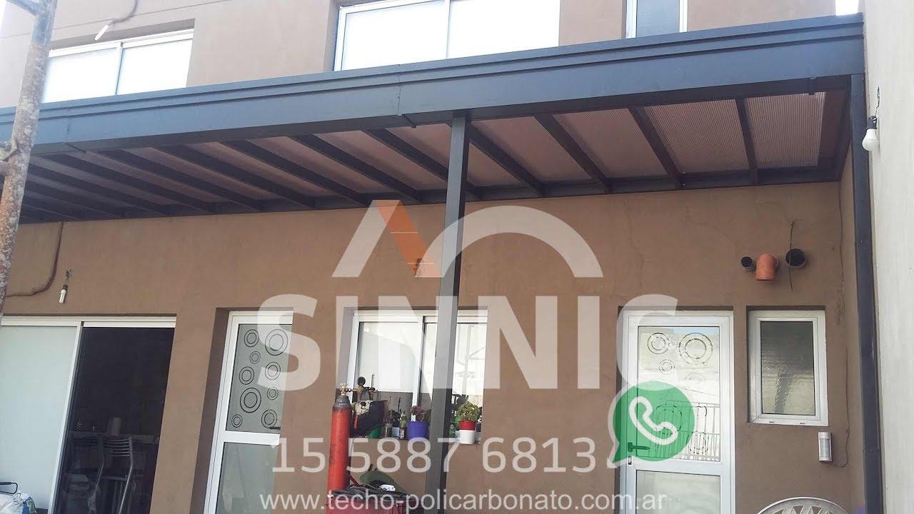 Techo hierro y policarbonato para galeria cenefa con for Techos para galerias exterior