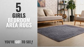 Top 10 Girls Bedroom Area Rugs [2018 ]: YOH Soft Sofa Area Rugs Girls Room Decor Fluffy Grey Rugs