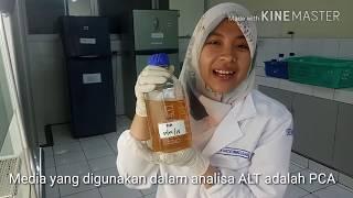 Uji  ALT / TPC ( total bakteri) mengacu pada SNI ALT 2015