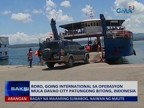 Saksi: RoRo operation mula Davao City patungong Bitong, Indonesia, simula na sa Lunes
