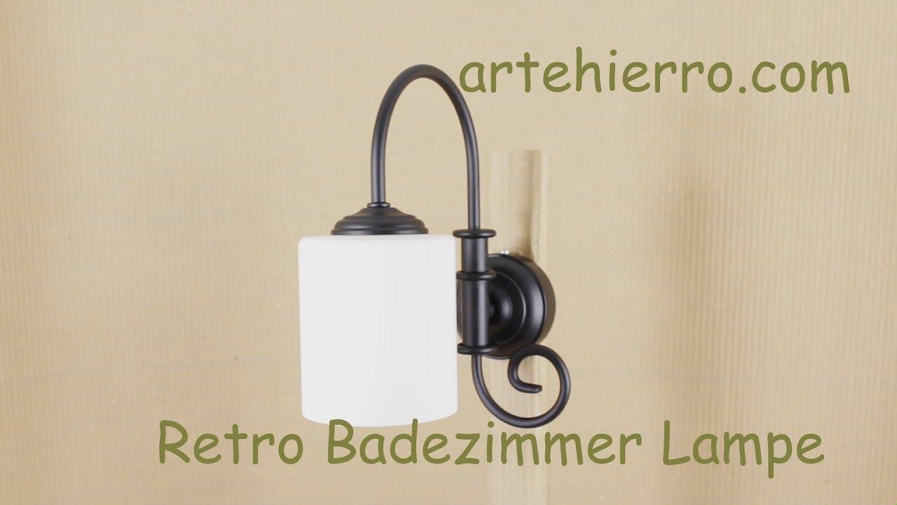 retro badezimmer lampe  youtube