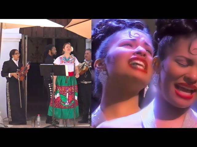 Dulce Osuna canta No Me Queda Más de Selena, acompaña Mariachi Las Olas de SB