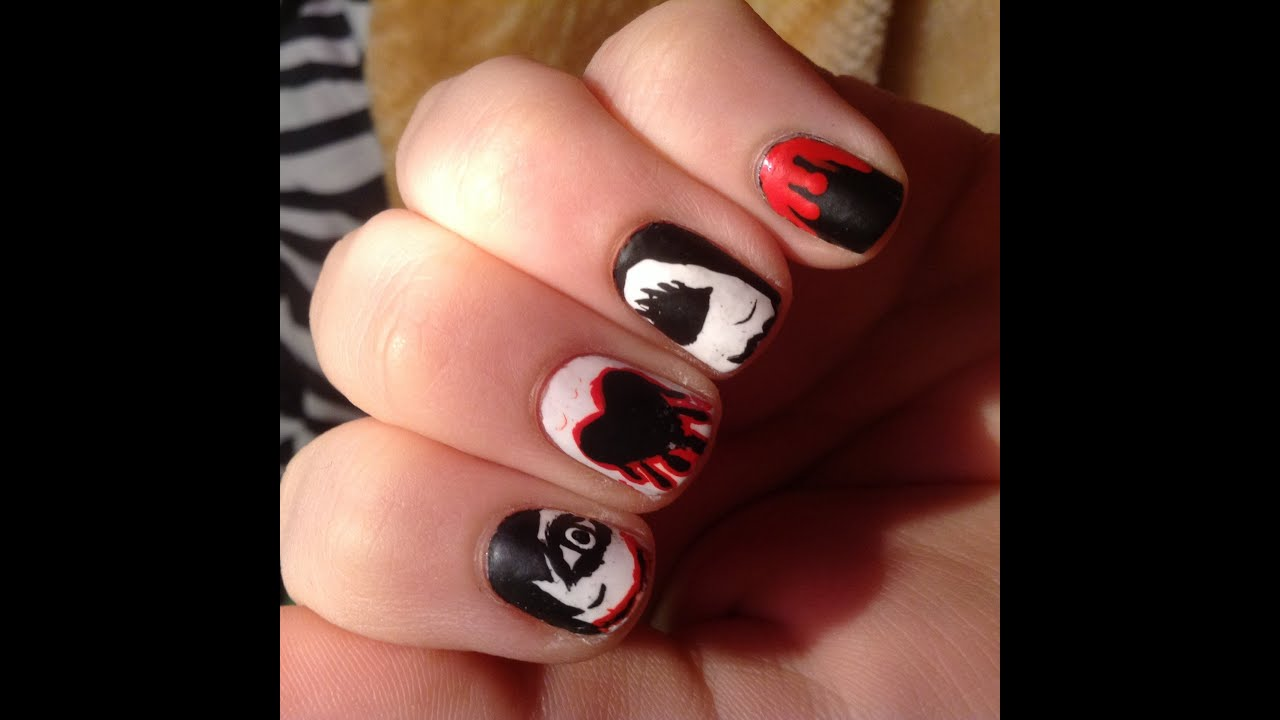 Q Riouser Q Riouser Nail Art: Jeff And Jane The Killer Nail Art