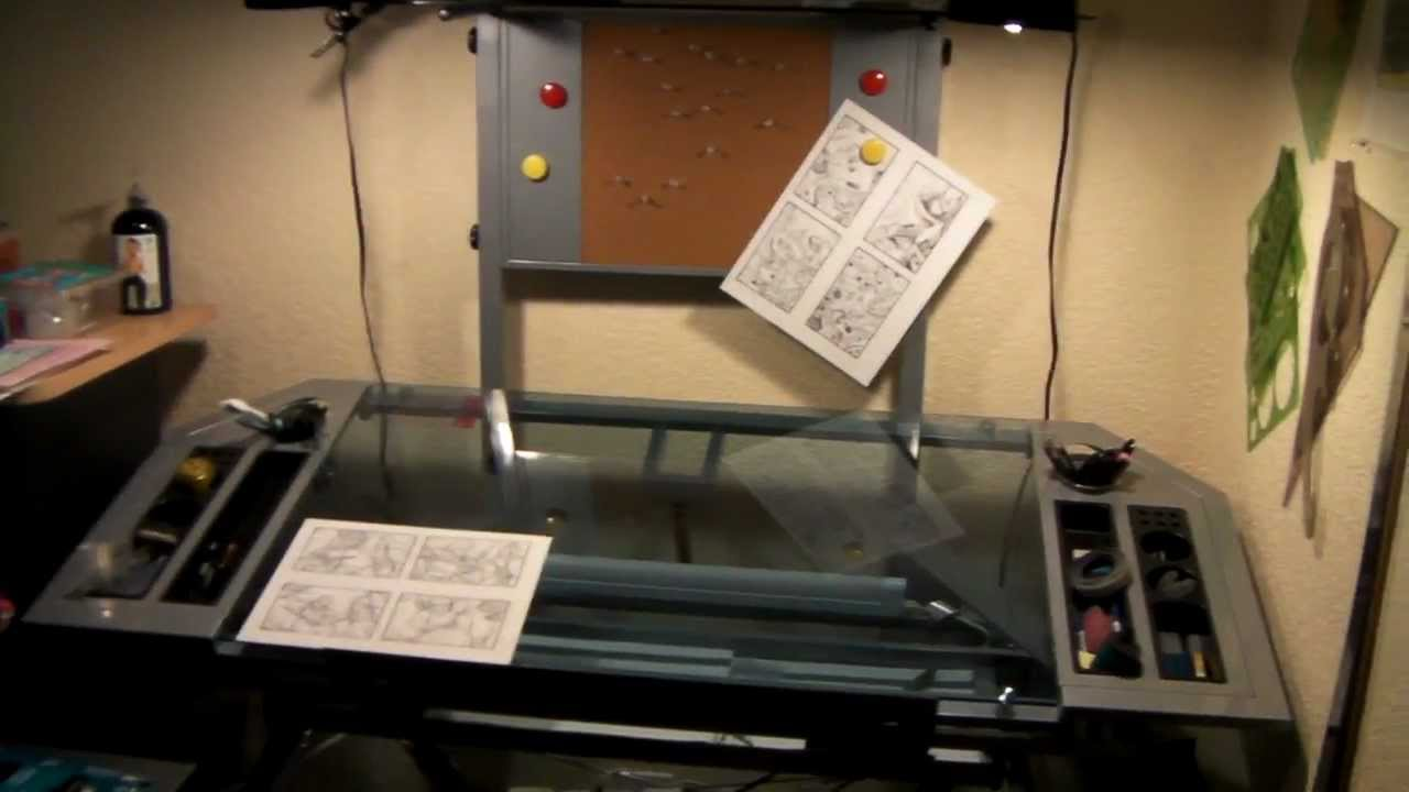 Studio Designs Futura Glass Tower Drafting Table Review   YouTube