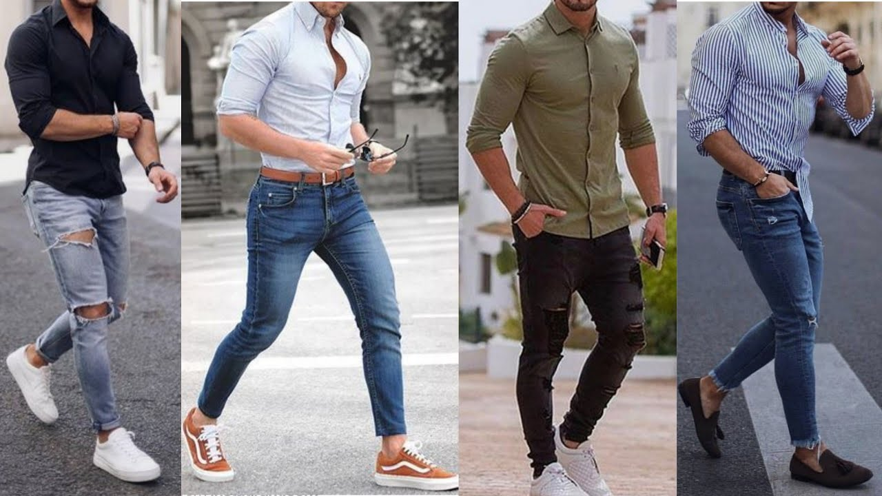 Men's Shirt with Jeans Style|Latest Shirt and Jeans Combination for Men|Men Jeans Shirt Fashion ...