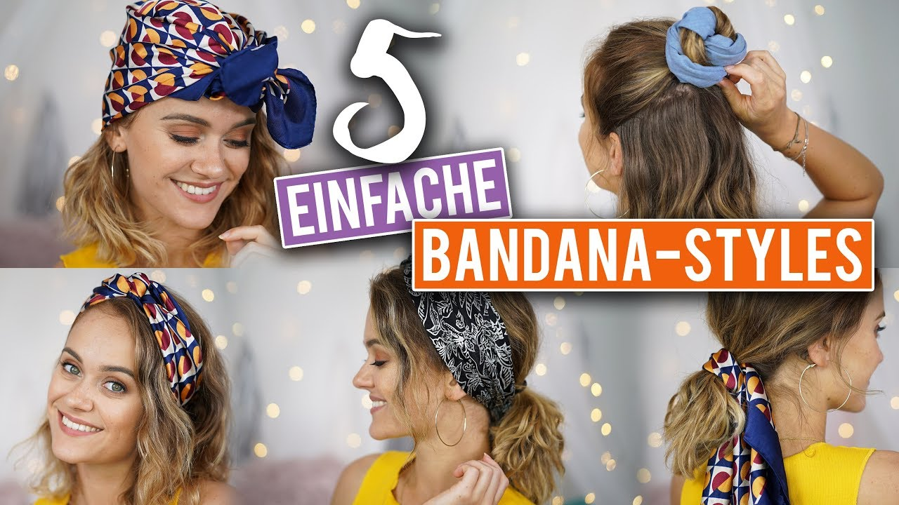 Bye Bye Bad Hair Day 5 Einfache Bandana Frisuren Snukieful Youtube