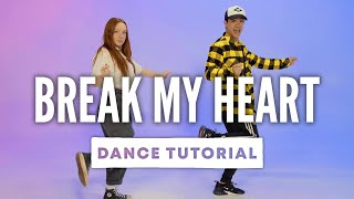 Download Lagu DUA LIPA - Break My Heart Dance Tutorial with Kyle Hanagami MP3