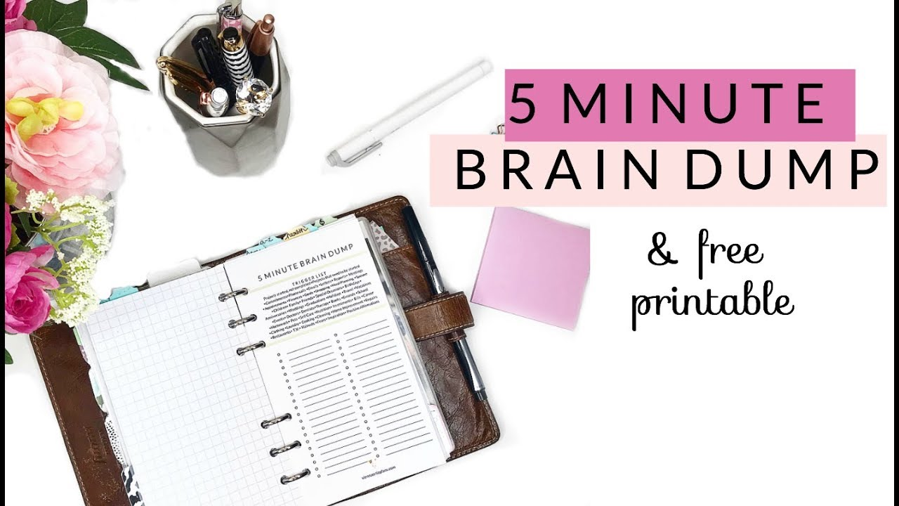 photograph about Brain Dump Printable known as 5 Second Intellect Dump Totally free Printable