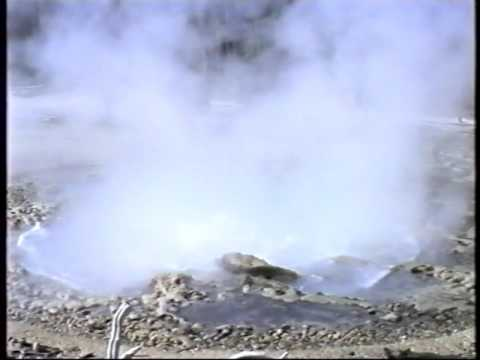Echinus Geyser eruption, July 1989, full raw footage (Norris Geyser Basin, Yellowstone)