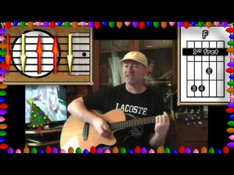Rockin' Around The Christmas Tree - Acoustic Guitar Lesson - (Easy - ish)