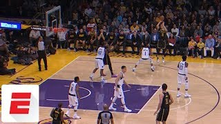 Lonzo Ball checks in and immediately buries 3 in first game back from injury | ESPN