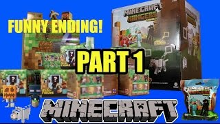 Minecraft Grass Series 1 + Hangers Series 2 Unboxing Opening 2015 Blind Boxes ENDERMAN CREEPER PT1