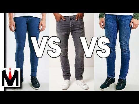Slim Jeans vs Skinny Jeans vs Spray On Jeans