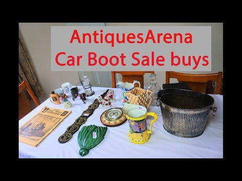 Thrift Stock Car Boot Sale Finds Antiques & Collectables, Silver Plate, Clock Work toy etc
