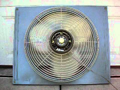 Vintage signal electric window exhaust fan ep 20 youtube for 12 inch window exhaust fan