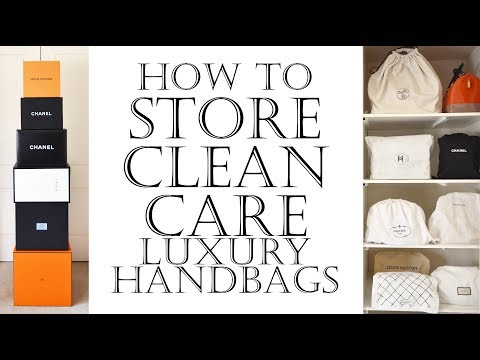 How to store, clean, care & protect luxury handbags inc Chanel bags | Conditioner for leather bags